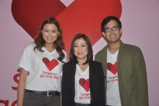 Joy Cabreba, Assistant Brand Manager for Sangobion_ Debbie Go, Head of Marketing for Consumer Health_ Jio Igual, Assistant Brand Manager for Sangobion