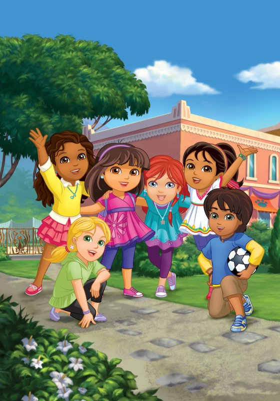 DORA_Emma, Alana, Dora, Kate, Naiya, and Pablo (Credit - Nick Jr.)