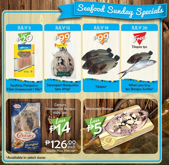 Robinsons Supermarket 2nd Freshtival 2015 Seafood Sunday Specials