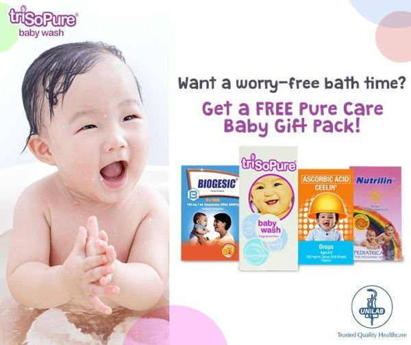 TriSoPure-Baby-Wash-Pure-Care-Baby-Gift-Pack-from-Unilab 1
