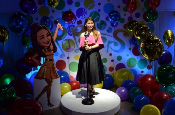 Kaye Fig on Sarah G Popsters App Launch