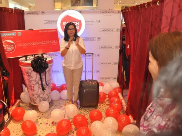 Lorna Tolentino surprises a customer with Trip to Hongkong