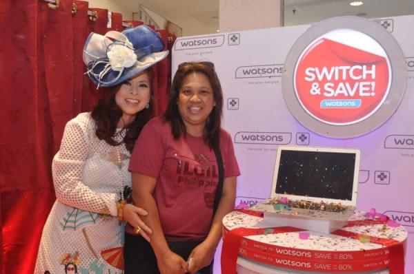 Tessa Valdez with Switcher's Surprise winner Jonalyn Pano