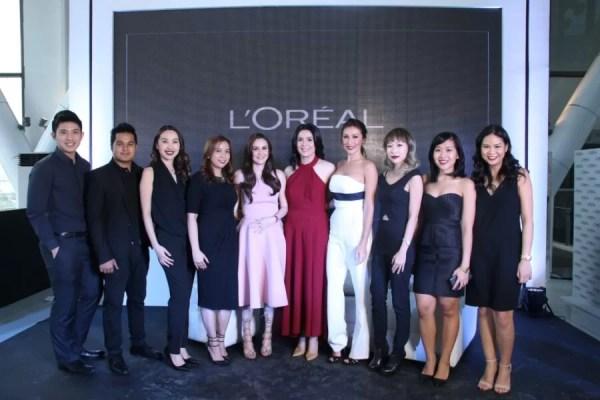 LOreal Paris Filipina Ambassadors with LOreal Paris PH Brand Team