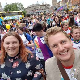 Broden Giambrone First Limerick Pride Trans Grand Marshal pictured at Dublin Pride 2016.