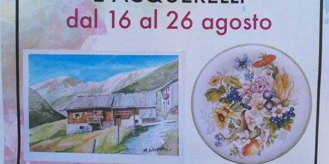 Maria Silvestri espone ceramiche decorate e acquerelli