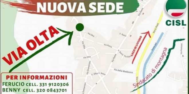La sede Cisl Livigno ha cambiato indirizzo