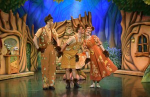 Low res Gavin McCaig, Darragh Hourrides and Alexander Yap as the Three Bears. Photo Brian Slater