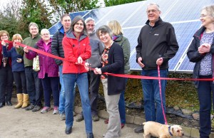 Sarah Fowler cuts the ribbon to officially launch the solar panels (1)