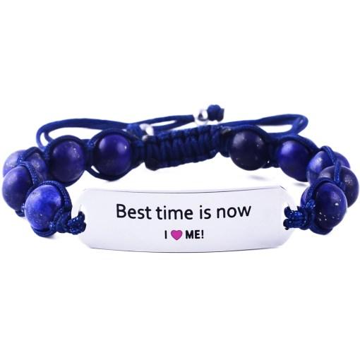 Best Time Is Now - Marine Blue Lazurite Bracelet