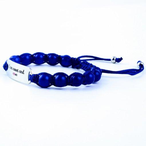 I Am Sweet And I Love Me - Marine Blue Lazurite Bracelet
