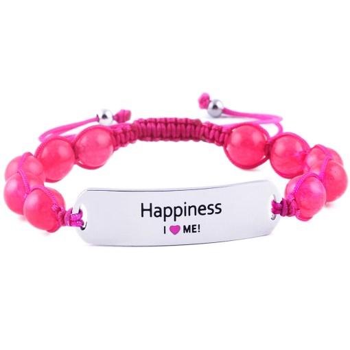 Happiness - Ruby Pink Jade Bracelet