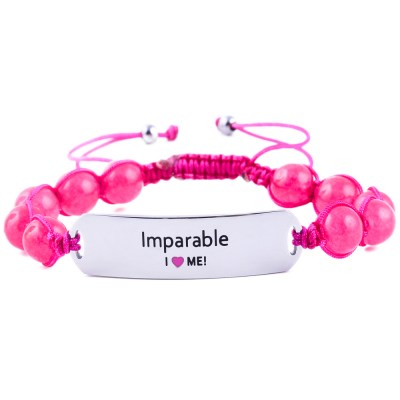 Imparable - Ruby Pink Jade Bracelet