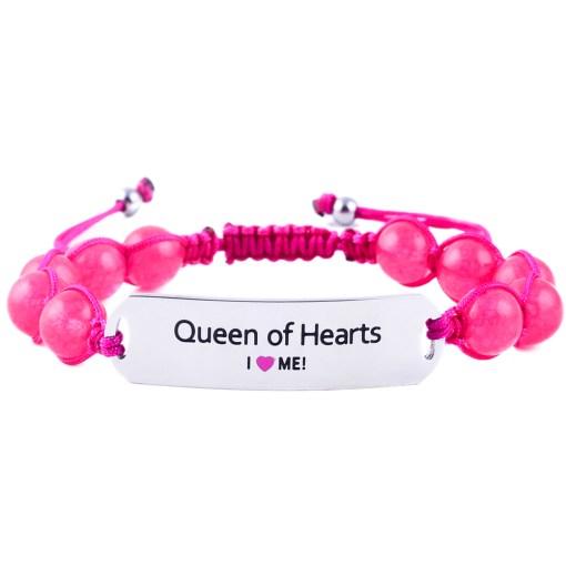Queen of Hearts - Ruby Pink Jade Bracelet