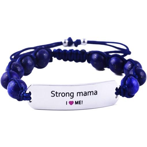 Strong Mama - Marine Blue Lazurite Bracelet