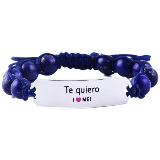 Te quiero - Marine Blue Lazurite Bracelet