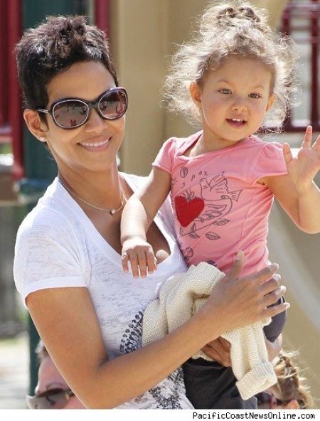 Halle Berry with her daughter, Nahla