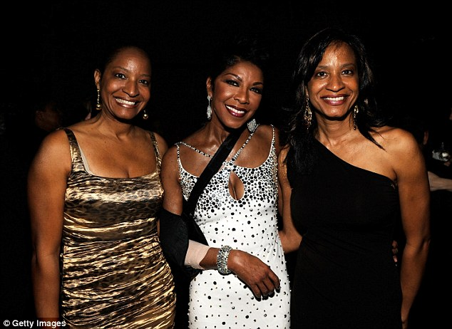 Natalie Cole and her identical twin sisters, Timolin and Casey Cole