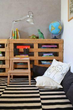 muebles con palets para niños