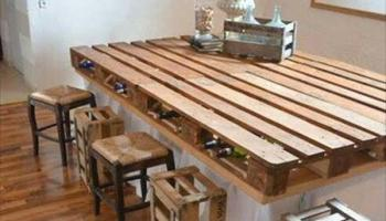 3 mesas de comedor hechas con palets muy elegantes