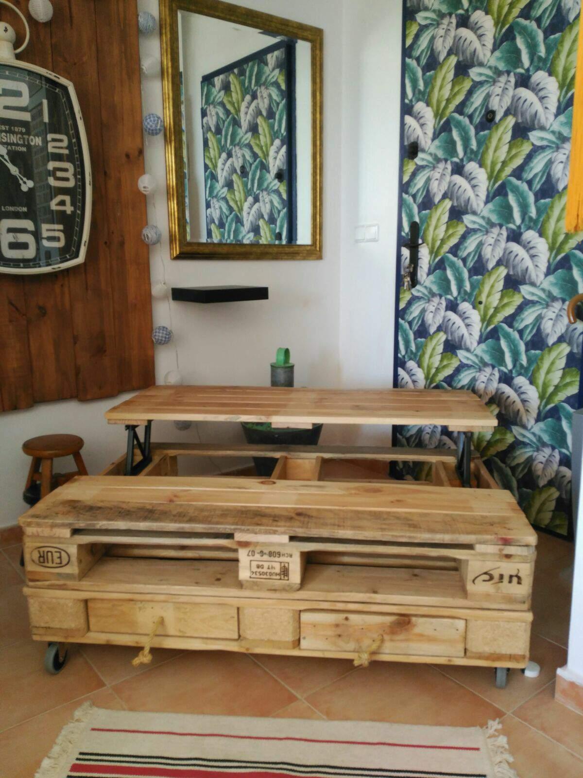 Como Hacer Una Mesa Elevable Perfect La Mesa Elevable Que Todos  # Muebles Diyant Caseros