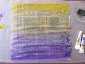 Jornal colorido com cores de água