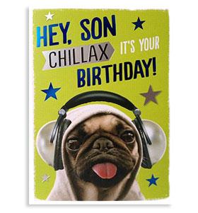 Hey Son Birthday Pug Card I Love Pugs