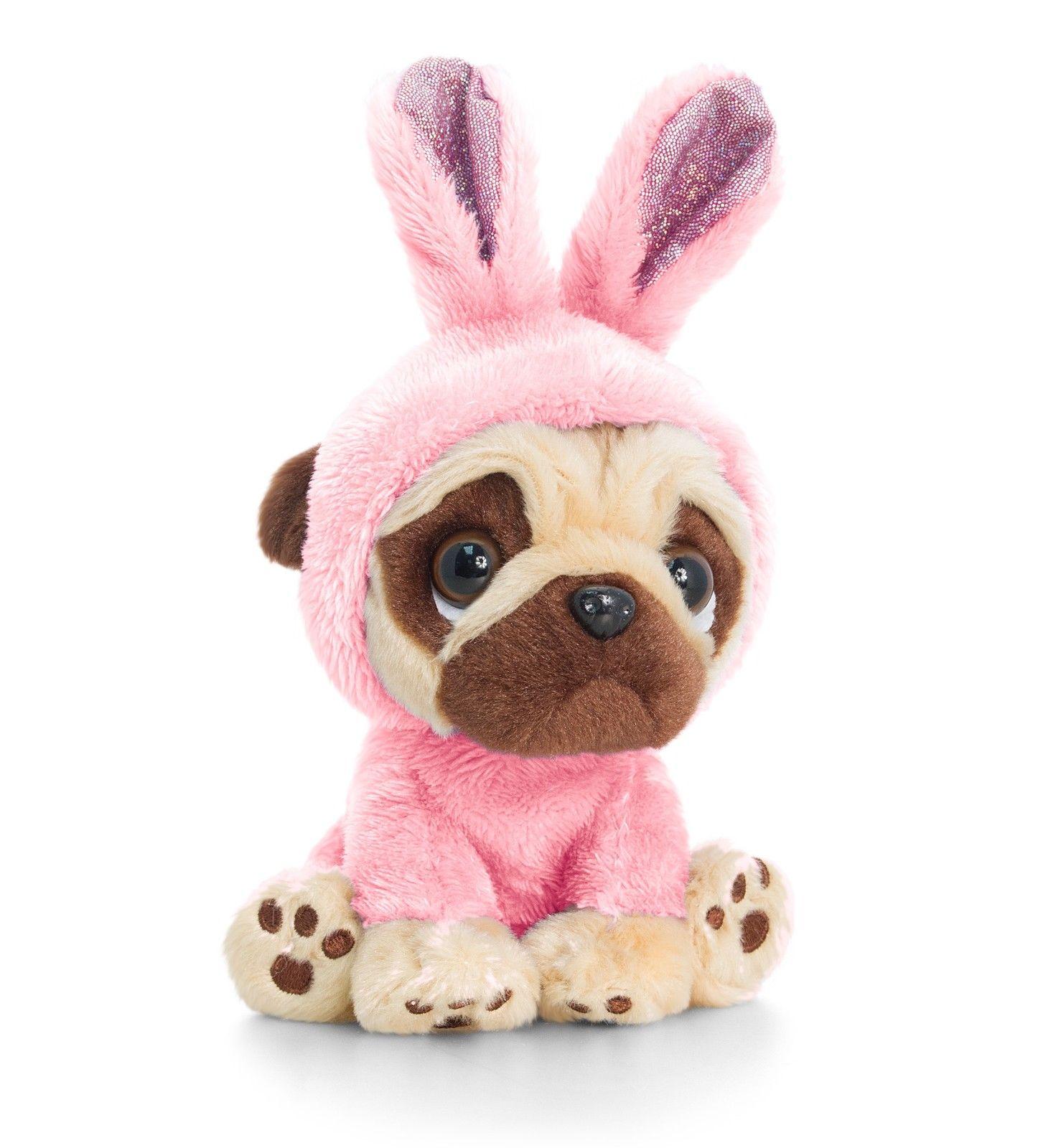 Baby Pink Pug Soft Toy I Love Pugs