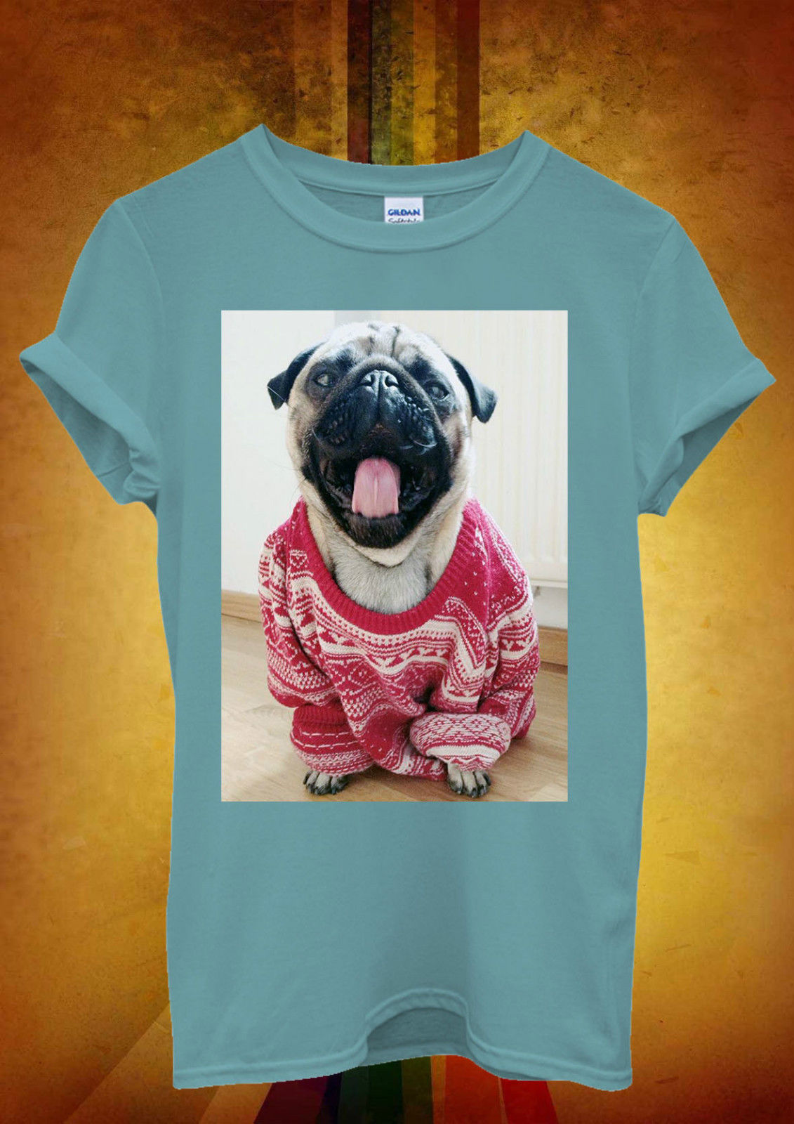 Unisex Pug In Oversized Jumper T Shirt Available 6