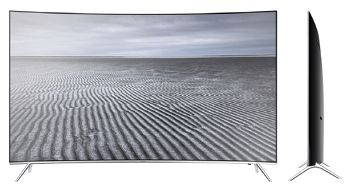 Smart TV Curbat Samsung KS7500 4K UltraHD - fata si profil