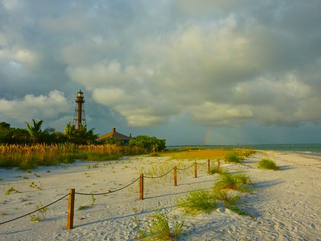Sanibel Lighthouse Rainbow