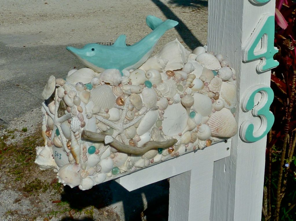 Seashell Mailboxes