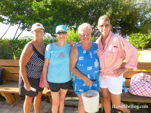 Beth, Debbie, Carol, Joyce Athens TN shelling in SW Florida