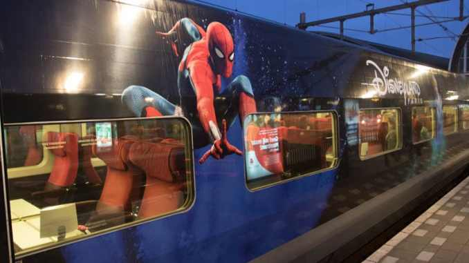 Thalys met Disneyland Parijs thema (Spiderman)