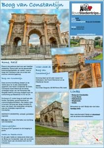 Reisinformatie Rome - Boog van Constantijn
