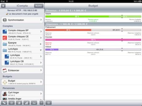 Gérer vos comptes facilement avec iCompta 2 sur iPad 1