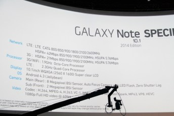 Samsung officialise la tablette Galaxy Note 10.1 Edition 2014, video et prise en main 1