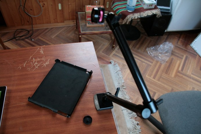 Test support et bras articulé pour iPad : Joyfactory Tube Tournez C-Clamp Mount 13
