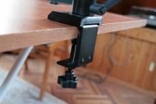 Test support et bras articulé pour iPad : Joyfactory Tube Tournez C-Clamp Mount 2