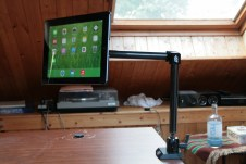 Test support et bras articulé pour iPad : Joyfactory Tube Tournez C-Clamp Mount 3