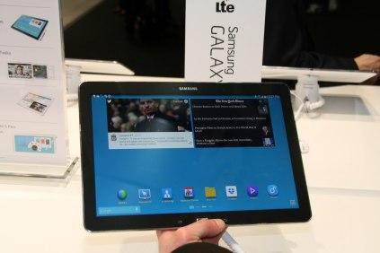 [MWC 2014] Prise en main de la tablette Samsung Galaxy Note Pro 12.2 4G LTE 7