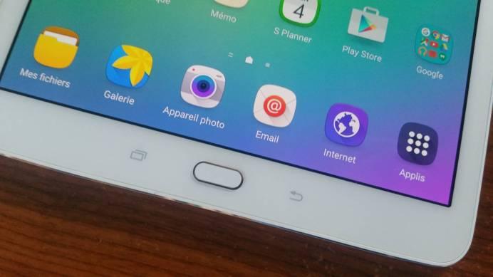 Test et avis Tablette Samsung Galaxy Tab S2 boutons home