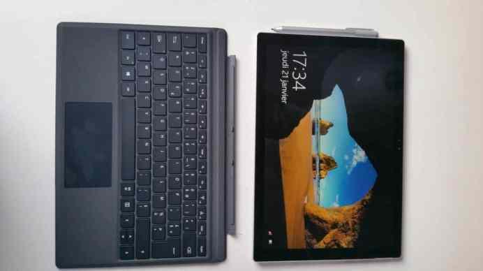 Test et avis Micrososft Surface Pro 4 full clavier