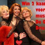 Win 2 kaarten voor de Musical De Grote Drie met Adèle, Conny, Jasperin