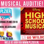 MANNEN GEZOCHT VOOR DISNEY'S HIGH SCHOOL MUSICAL ARNHEM