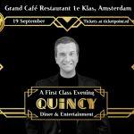 """Amsterdamse roots herbeleven tijdens """"A First Class Evening"""" met publiekslieveling Quincy!"""