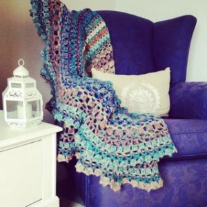op shop crochet rug - born to match that chair!