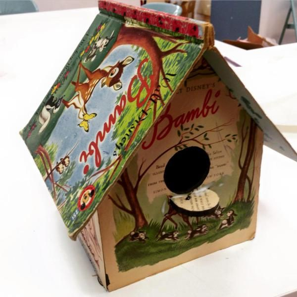 Little Golden Book Birdhouse by Books What Not