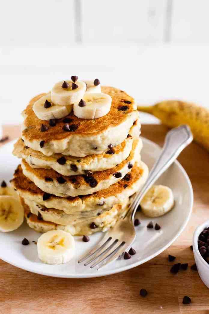 Vegan Chocolate Chip Pancakes I Love Vegan