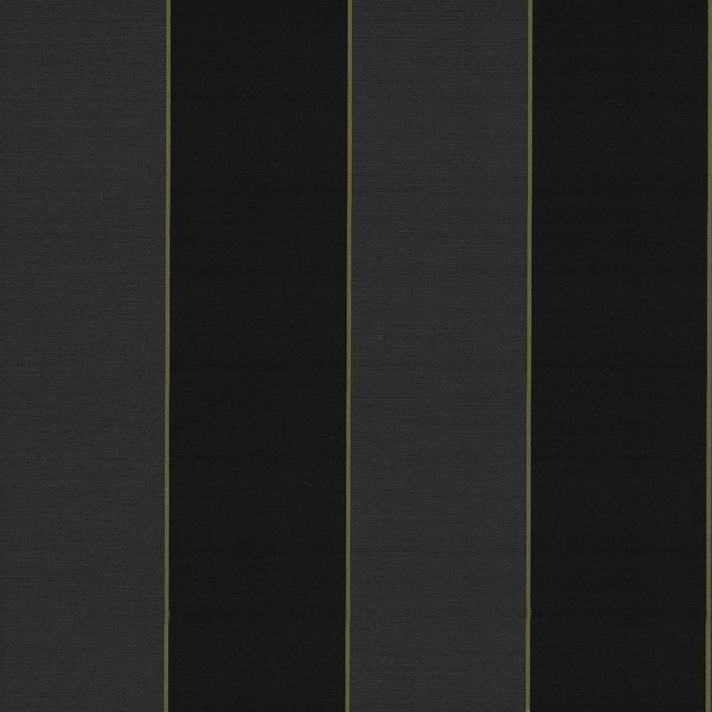 Caselio Bold Stripe Vinyl Wallpaper Black Charcoal